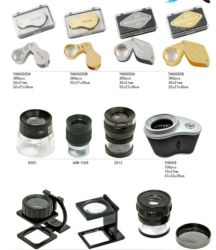 Th9005D Metal Folding Desk Magnifying Glass 8X Magnifier