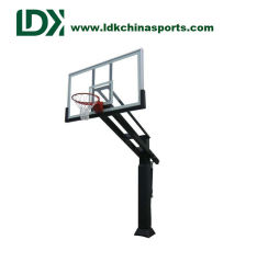 Basketball Training Equipment Tempered Glass Inground Basketball Hoop  Adjustable For Sale