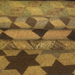 Pure Cork PU Synthetic Leather Fabric for Bags Shoes (HS-BC05)