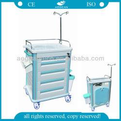 AG-Et012b1 with IV Pole Nursery Furntiure Hospital Trolley