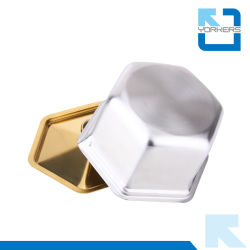 2016 New Design Gold Plating Stainless Steel Mini Portable Camping Stove