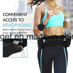 Sports Waist Bag/ 2 Water Bottle Holder Pack/ iPhone 7 Plus Sports Outdoor Waist Belt Water Resistant / Large Capacity with Pockets Ultra-Thick Breath Esg10209