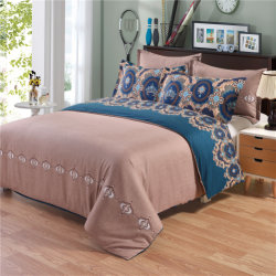 Bohemia Style Exotic Patterns Design Printed Duvet Covers Reversible 3 Piece Set with 2 Pillow Shams