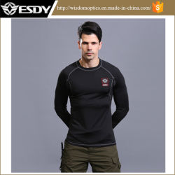 Black (ESDY) Tactical Training Thermal Underwear Set for Outdoor Sports