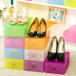 Thick Plastic Transparent Shoe Box Shoes Storage Box
