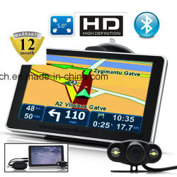 """Factory Sale 5.0"""" Capactitive Mulit-Touch Car GPS Navigation with Quad Core Android 5.1 Tablet PC; Google Map, Bluetoothh, FM Transmitter; ISDB TV G-5005A"""