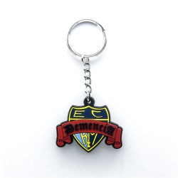 Basketball Sport PVC Label Key Chain Flexible Rubber Football Gift House
