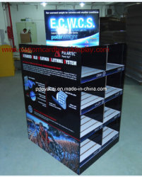 Full Color Printed 2-Sided Cardboard Pallet Display with Slots for Garments