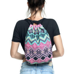 2018 New Personality Woman's Retro Backpack Shoulder Bag Drawstring Bag Pattern Oxford Sports Outdoor Girl Hand Bag Gift Hot