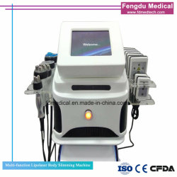 Portable Lipo Laser Slimming Machine 40K Cav RF Vacuum Lipo