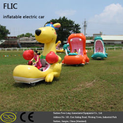Coin Operated Town Center Inflatable Electric Car with MP3 Player