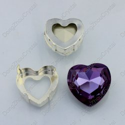 Heart Rhinestones Sew on Crystal Glass Stones with Claw Crystal Rhinestone Trimming