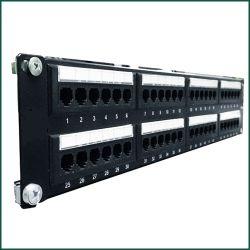 19'' utp 48 ports cat5e cat6 patch panel,rj45 keystone jack patch.