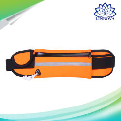 Nylon Outdoor Running Sports Waist Bag with Earphone Hole