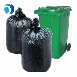 Colored HDPE LDPE PE Industrial Household Certified Wholesale Cornstarch Biodegradable Compostable Large Plastic Garbage Bag on Roll with Custom Logo