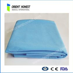 Blue Protective Bed Sheets For Hotels And Hospitals