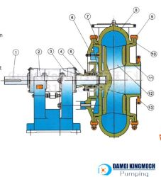 Dgd Slurry Dredge Pump for Sand and Gravel (Repalce G/GH)