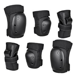 Wholesale 6PCS Adult Sports Roller Skates Bicycle Protection Set Knee Pads Elbow Guard Palm Skateboard Protective Gear