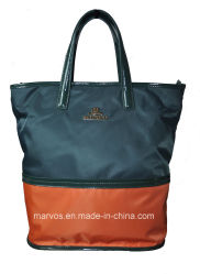 Fabric Handbags with Leather /Tote Fabric Handbags (BS13173)