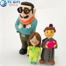 Custom Hipster Fashion PVC Key Holder Company Promotional Items Personalized Keychain Cartoon Doll Toy Women Home Car Decoration Rubber Keyfob for Wholesale