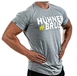 Men's Bodybuilding Fitness Gyms Cotton/Spandex T-Shirt Sports Breathable Muscle Fit Top Tee Shirt