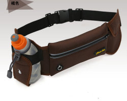 Fashionable Leisure Polyester Sports Waist Belt Bag with Water Bottle