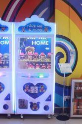 2017 Happy World Mini Plush Toy Claw Crane Machine for Mall
