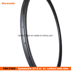 "New 30mm Width Carbon Fiber 27.5"" / 650b Mountain Bike Clincher Rim Tubeless Compatible"