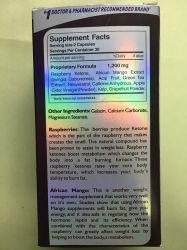 100% Natural Raspberry Ketone Lean Slimming Capsules