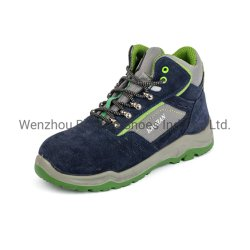 Suede Leather/PU Sports Work Safety Shoes for Men/Women