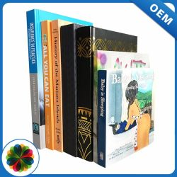 A4 Custom Cardboard Cream Paper Sewn Hardcover Book Printing for Wholesale