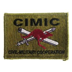 Custom Unfall-Hilfe One-Side Design Sew-on Woven Label Patch (013)