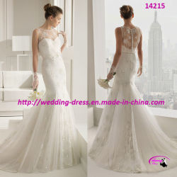 05afd55b4b5 2015 Newest White Trumpet Wedding Bridal Dress with Full Lace