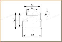 Wear Resistance Guide Rail PA Linear Chain Guide Type-Ctu