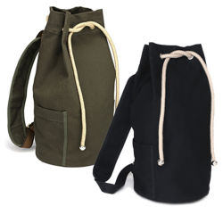 Promotional Eco Travel Sport Cotton Canvas Drawstring Backpack