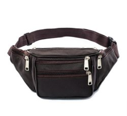 New Hot Style Men Leather Casual Fanny Pack Waist Belt Bag Purse Hip Pouch Travel Sports Waist Packs
