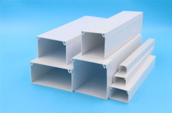 All Sizes Available Plastic PVC Electrical Cable Trunking