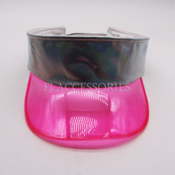 Good Quality Plastic PVC Sun Visor Cap with Shinny PU Band 009eb121959f