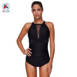 03b818c4dc6 Ladies Waist Net Neck Lace Black Push up Padded Bra V-Neckline One Piece  Swimsuit