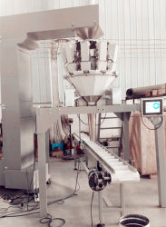 Automatic Solid Can Food Filler with Multihead Weigher