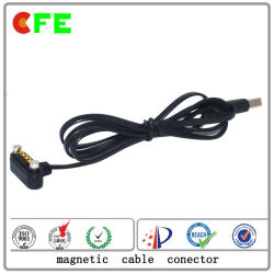 Waterproof 4pin Magnetic Cable Connector with USB