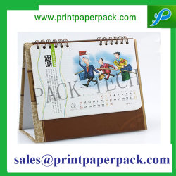 Custom Printed Style and Paper Cover Material Desk Calendar
