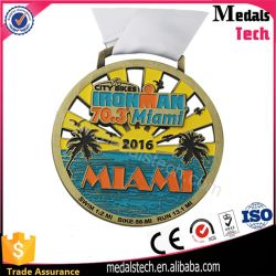 Custom Hawaii Miami Color Filled Antique Gold for Marathon