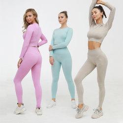 Women's Yoga Running Seamless Sports Bra and Legging Set