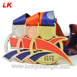 Wholesale Metal Crafts Custom Designs Gold Marathon Running Race Sport Award Medals for Promotion Gift