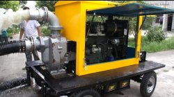 180m3/H Mixed-Flow Diesel-Engine Water Pump Mounted on Trailer