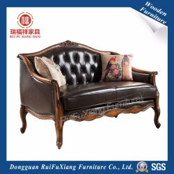 N311 Ruifuxiang Living Room Furniture Leather Sofa with Birch Frame