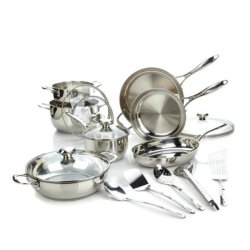 18/10 Stainless Steel Pots and Pans Set 17-Piece (CX-SS1701)