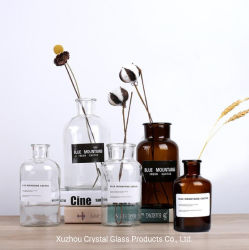 Transparent and Brown Creative Simple Glass Vase