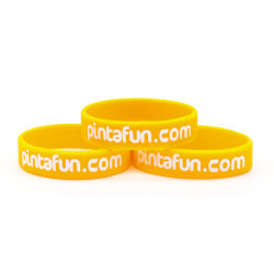 High Quality Customized Silicone Wristband Gift ID Keychain Printing Ink Sport Sets